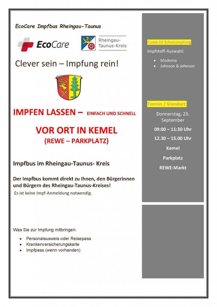 IMPFBUS in Heidenrod Kemel